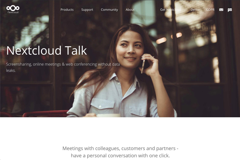 nextcloud talk web meeting anwendung