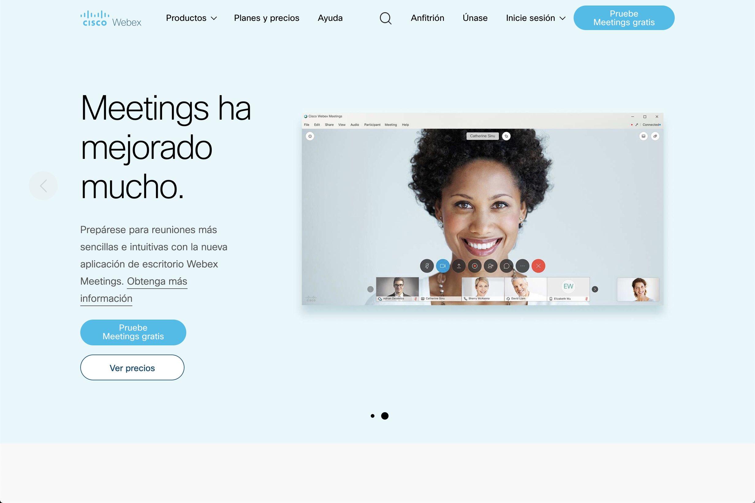 cicso webex web meeting anwendung