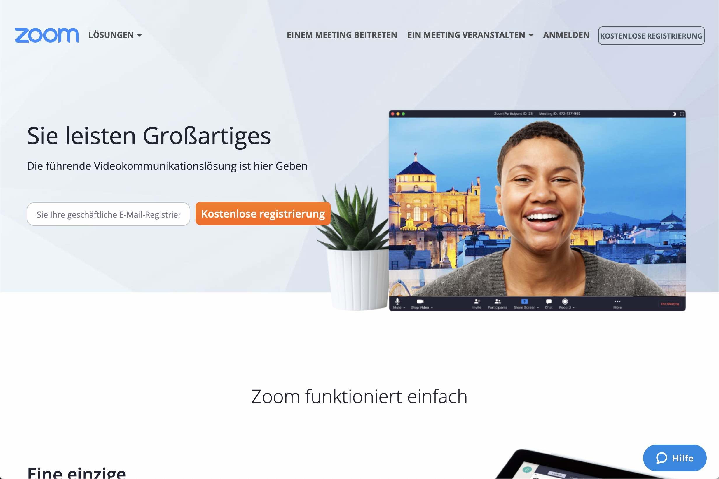 zoom-us web meeting anwendung